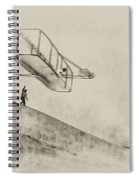 The Wright Brothers At Kittyhawk Spiral Notebook