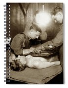 The X-ray Department Base Hospital 34, U. S. A., Nantes, France,  1918 Spiral Notebook