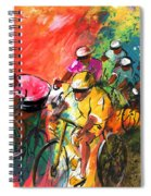The Yellow River Of The Tour De France Spiral Notebook