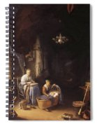 The Young Mother 1658 Spiral Notebook