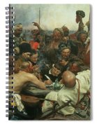 The Zaporozhye Cossacks Writing A Letter To The Turkish Sultan Spiral Notebook