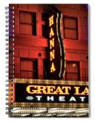 Theater District Close Up Spiral Notebook