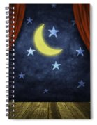 Theater Stage With Red Curtains And Night Background  Spiral Notebook