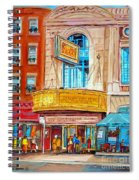 Theatre Rialto Ave. Du Parc Montreal Spiral Notebook