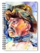 Theodore Roosevelt Painting Spiral Notebook