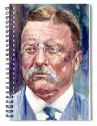 Theodore Roosevelt Watercolor Portrait Spiral Notebook