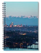 The_olympics_over_seattle Spiral Notebook