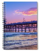 There Will Be Another One - San Clemente Pier Sunset Spiral Notebook