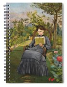 Therese Reading In The Park Of Meric Spiral Notebook