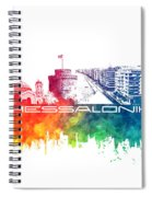 Thessaloniki Skyline City Color Spiral Notebook
