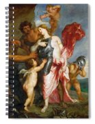 Thetis Receiving The Weapons Of Achilles From Hephaestus Spiral Notebook
