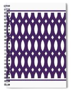 Thick Curved Trellis With Border In Purple Spiral Notebook