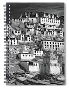 Thiksey Monastery - Paint Bw Spiral Notebook