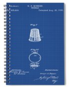 Thimble Patent 1891 In Blue Print Spiral Notebook