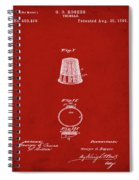 Thimble Patent 1891 In Red Spiral Notebook