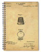 Thimble Patent 1891 In Sepia Spiral Notebook