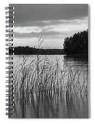Thin Rain In The Evening Spiral Notebook