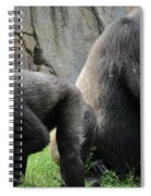 Thinking Gorilla Spiral Notebook