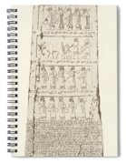 Third Side Of Obelisk, Illustration From Monuments Of Nineveh Spiral Notebook
