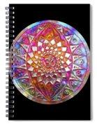Third Up Kupfer Lichtmandala Spiral Notebook