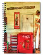 Thirst-quencher Old Coke Machine Spiral Notebook