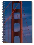 This Is A Close Up Of The Golden Gate Spiral Notebook