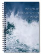 This Is How Water Loves Spiral Notebook