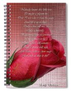 This Little Rose On Digital Linen Spiral Notebook