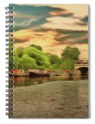 This Morning On The River Spiral Notebook