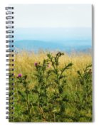 Thistle On The Blue Ridge Spiral Notebook