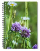 Clover And Daisies Spiral Notebook