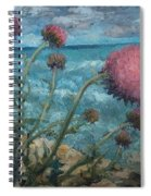 Thistles By The Sea Spiral Notebook