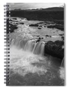 Thofafoss Waterfall Iceland 1538 Spiral Notebook