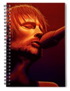 Thom Yorke Of Radiohead Spiral Notebook