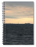 Thomas Point  - View Of The Bay Bridge Spiral Notebook