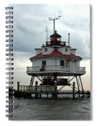 Thomas Point Shoal Lighthouse - Up Close Spiral Notebook