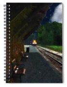 Thomaston Train At Night Spiral Notebook