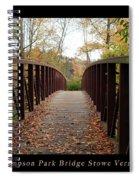 Thompson Park Bridge Stowe Vermont Poster Spiral Notebook