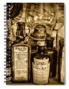 Those Old Apothecary Bottles In Sepia Spiral Notebook