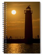 Oh Those Summer Nights Spiral Notebook