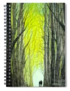Though The Forest To The Light  Spiral Notebook