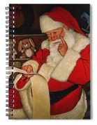 Thoughtful Santa Spiral Notebook