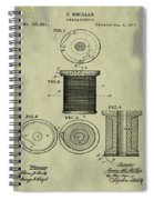Thread Spool Patent 1877 Weathered Spiral Notebook