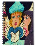 Three Angel Carolers Spiral Notebook