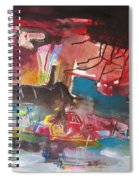Three Arms10  Original Abstract Colorful Landscape Painting For Sale Red Blue Green Spiral Notebook