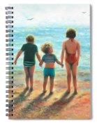 Three Beach Children Siblings  Spiral Notebook