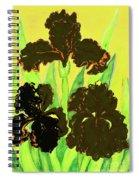Three Black Irises, Painting Spiral Notebook
