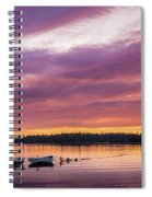 Three Boats In French Village, Nova Scotia #2 Spiral Notebook