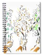 Three Bouquets Spiral Notebook
