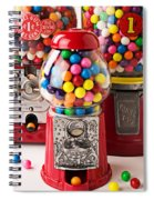 Three Bubble Gum Machines Spiral Notebook